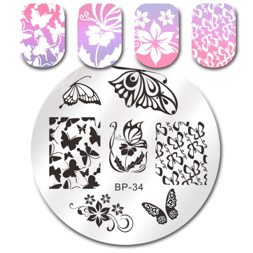 Born Pretty Plate # BP-34